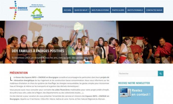 Site internet Info énergie en Bourgogne
