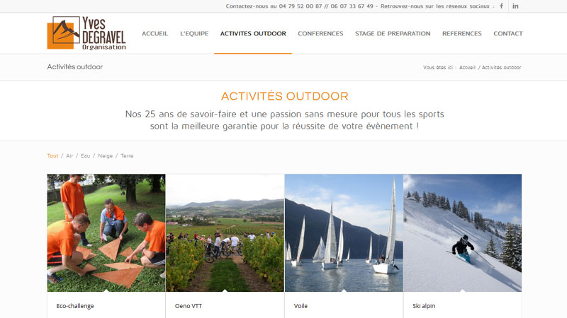 Activités outdoor Yves Degravel Organisation