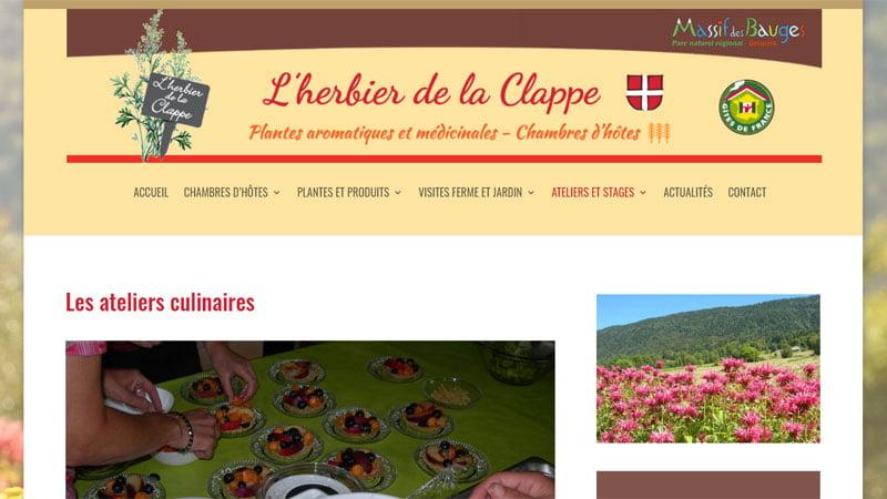Ateliers culinaires Herbier de la Clappe