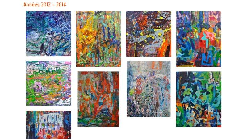 Carole Delaye, artiste Paris, peintures 2014
