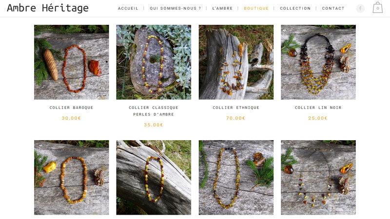 Colliers femme ambre