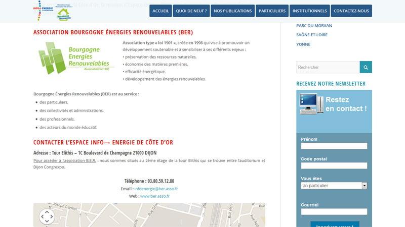 Contact Bourgogne énergies renouvelables