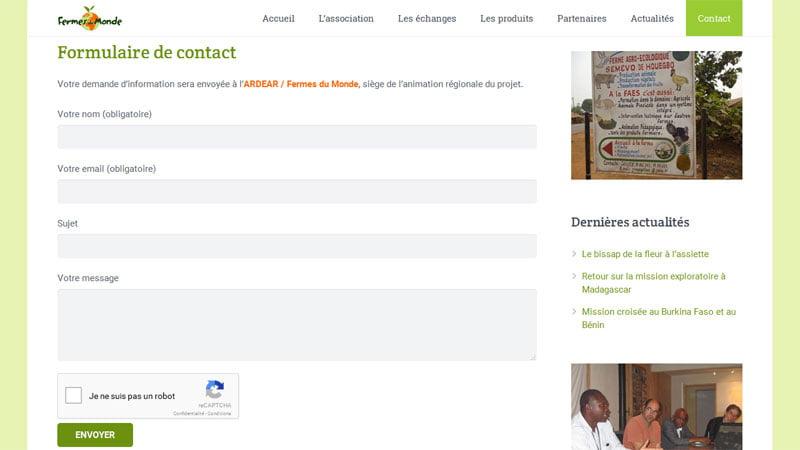 Contact Fermes du Monde
