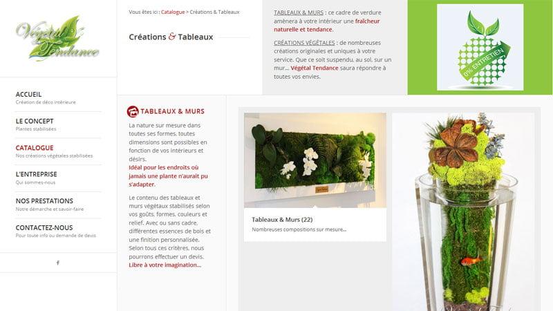 Création et tableaux Végétal Tendance