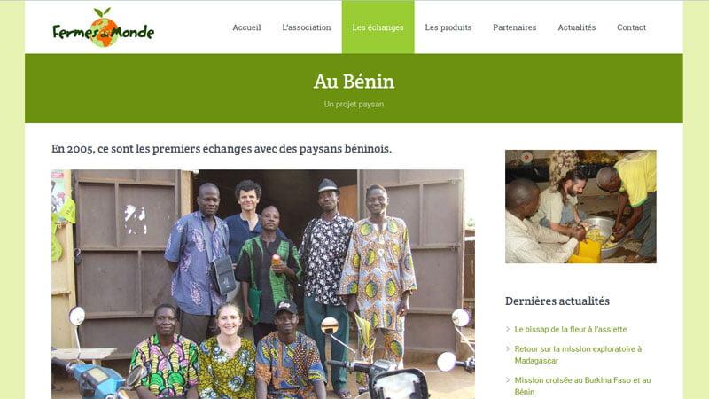 Les échanges au Bénin - Fermes du Monde