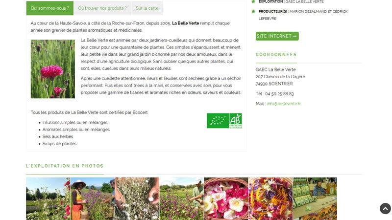 Informations La Belle Verte