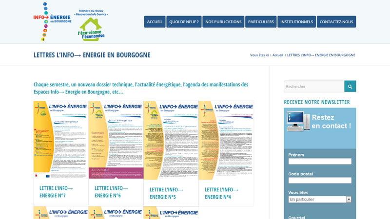 Lettres Info énergie Bourgogne