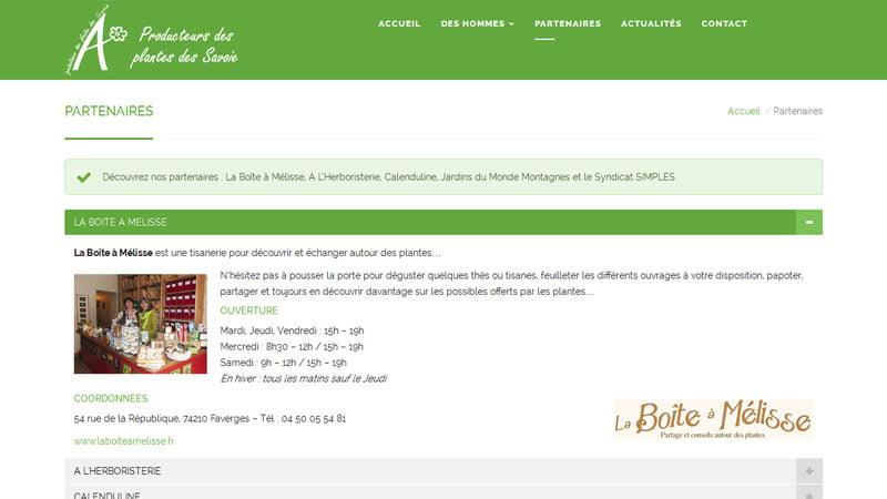 Partenaires des producteurs de plantes aromatiques des Savoie