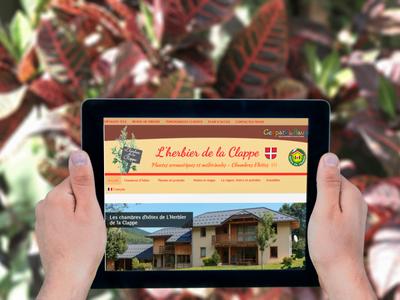 Le site internet de L'Herbier de la Clappe sur tablette
