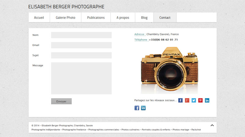 Contact Elisabeth Berger photographe