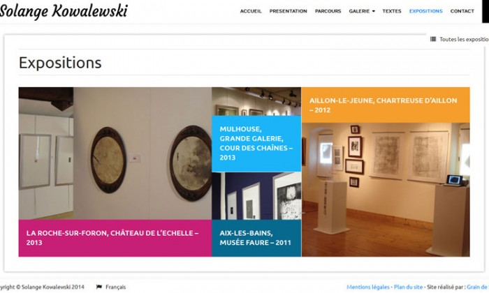 Expositions de Solange Kowalewski