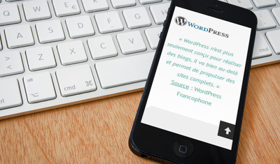 Smartphone WordPress | Grain de Site