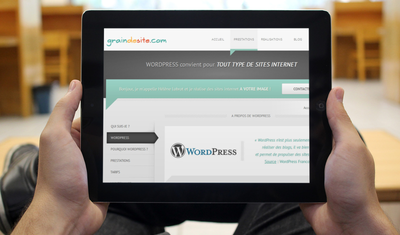 Tablette WordPress | Grain de Site