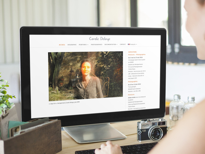 Site internet de Carole Delaye, artiste Paris